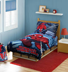 bedroom gorgeous spiderman room ideas with red rug and table lamp