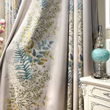 Blackout Curtains For Bedroom Jacquard Half Blackout Curtains Living Room Plants Printed