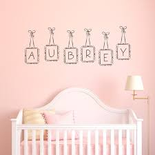 Letter Wall Decals For Nursery Lovely Hanging Frames Custom Personalized Letter Name Wall