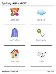 phonics second grade ou and ow series by abbyexplorer tpt