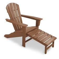 Pull Out Ottoman Polywood Reg Recycled Plastic Big Adirondack Chair With