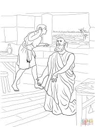 elisha and his servant elisha heals naaman coloring page