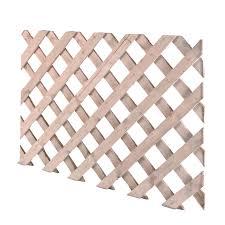 timber lattice trellis panel h 620mm w 2 44m departments diy