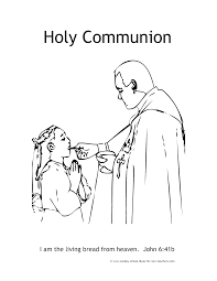 7 sacraments communion coloring pages coloring pages for all