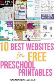 10 best websites for free preschool printables free preschool