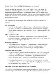Resume Objective Sample For It by Examples Of Objective Statements For Resumes Example Of A Good 25