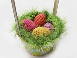 easter basket grass easter decorations made with crafts knitting and crochet