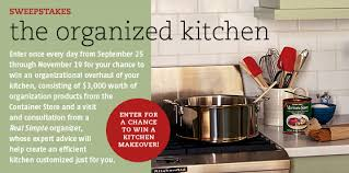 Kitchen Makeover Sweepstakes - your life organized design and aesthetics