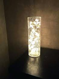 led lights in glass vase with great for up lighting flower