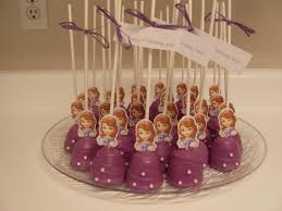 sofia cake pops sofia party