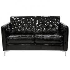 Patent Leather Sofa Black Patent Leather New Rock Sofa 2 Places M Nrsofa3 C1