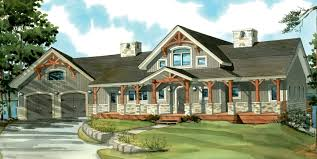 one story house plans with wrap around porch home office