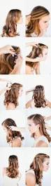 easy tutorial for waterfall braid wedding hairstyles for long
