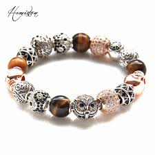 bracelet skull beads images Online shop thomas rose gold color owl tiger eye yin yang jpg