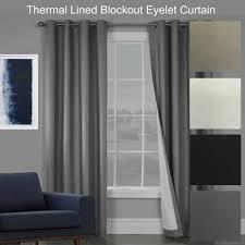 Eyelet Curtains Sorrento Quality Textured Blockout Eyelet Curtains 100 Blackout