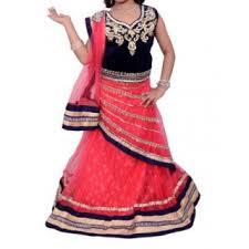 lancha dress dresses embroidered stylish lehenga choli blue saree style