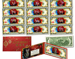 new year dollar bill 2017 new year gold hologram year of the rooster one
