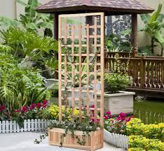 cedar planter box trellis sets model pl30u set from all things cedar