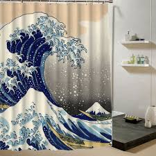 Science Is Awesome Periodic Table Of Elements Eva Shower Curtain Japanese Wave Bathroom Custom Shower Curtain Polyester Fabric