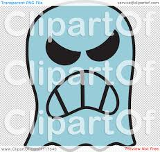 cartoon ghost halloween background cartoon of a halloween ghost with an angry expression royalty