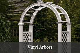 wedding arbor kits vinyl arbor trim kits yard envy