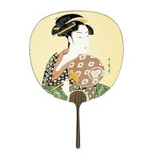 uchiwa fan japanese online shop utamaro woman holding fan uchiwa fan