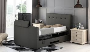 Tv Bed Frames Arlington Ottoman Tv Media Bed Frame With 32 Led Tv Bensons For