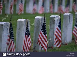 Memorial Day American Flag Grave Stones With American Flags Memorial Day Services At