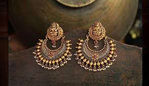 temple design gold earrings indian temple jewelry types designs