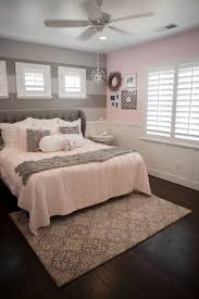 lovely pink and grey bedroom ideas gray walls white bed sheet idea