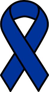 black and blue ribbon clipart blue colon cancer ribbon