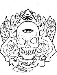 skull eye outline tattoo design photos pictures and sketches