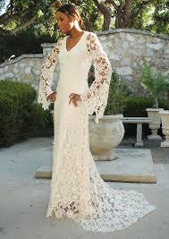 hippie boho wedding dresses boho wedding dress bell sleeve simple crochet lace bohemian