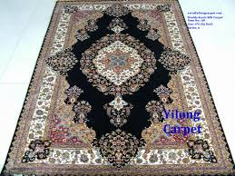 Silk Oriental Rugs 400kpsi 4 U0027x6 U2032 Hand Knotted Silk Persian Rugs For Europe And