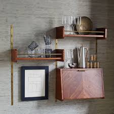 Bar Wall Shelves by Mid Century Shelf West Elm
