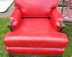 Red Club Chair Club Chairs Etsy