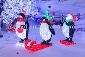 Christmas Decorations Buy by Penguin Outdoor Christmas Decorations Large Lighted Outdoor