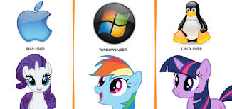 Windows Vs Mac Meme - 220167 linux mac os x meme operating system rainbow dash