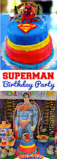 superman birthday party happy blessed
