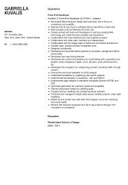 front end developer resume front end developer resume sle velvet