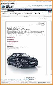 Initiativbewerbung Anschreiben Audi 10 audi bewerbung avant trash