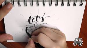 hand lettering tutorial 1 let u0027s do this youtube