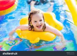 Inflatable Kids Pool Children Playing Inflatable Baby Pool Kids Stock Photo 429344785