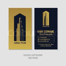 abstract vertical vector business card design template gold and