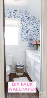 bathroom wall stencil ideas create faux wallpaper using paint and a stencil in my own style