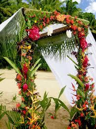 wedding arch used wedding arch used at kulu bay resort for fiji weddings paradise