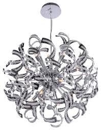 ribbon light silver ribbon chandelier chandelier gallery