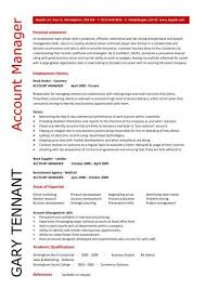 account manager resume exles account manager resume sle pic account manager cv gary tenant