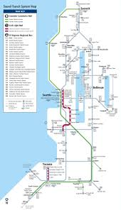 Seattle Monorail Map by Seattle Rail Map Chicago Map