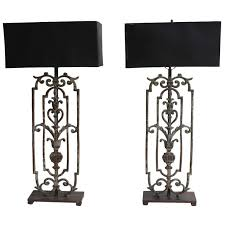 Iron Table Lamps Cool Wrought Iron Table Lamps Black Wrought Iron Table Lamps